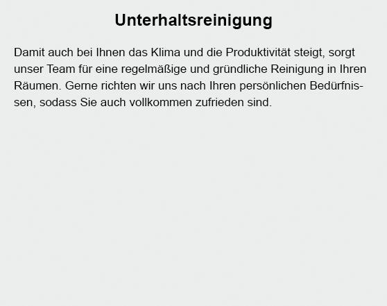 Unterhaltsreinigung für 67229 Gerolsheim